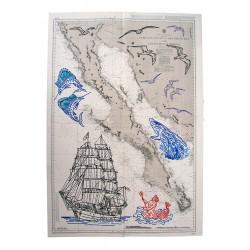 Carta náutica intervenida